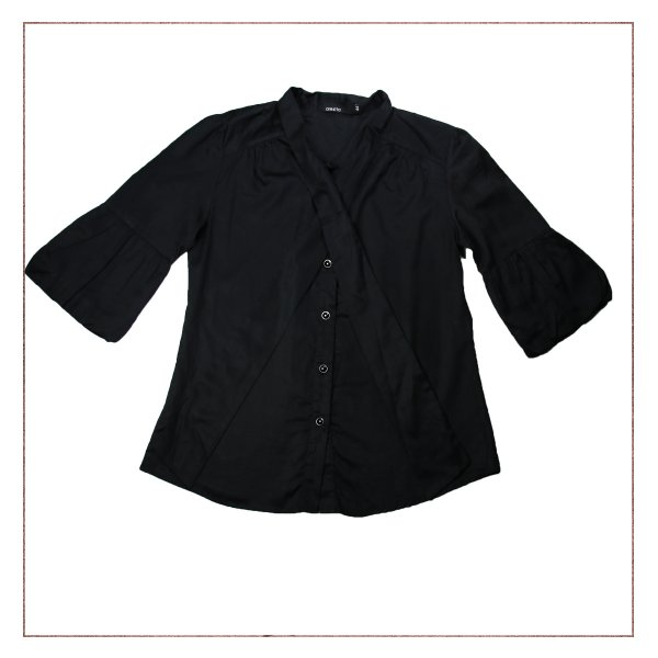 Camisa Social Preta Arestta