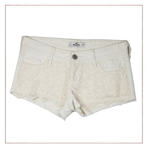 Shorts Renda Hollister