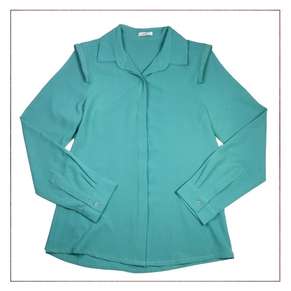 Camisa Canal Verde Ombro