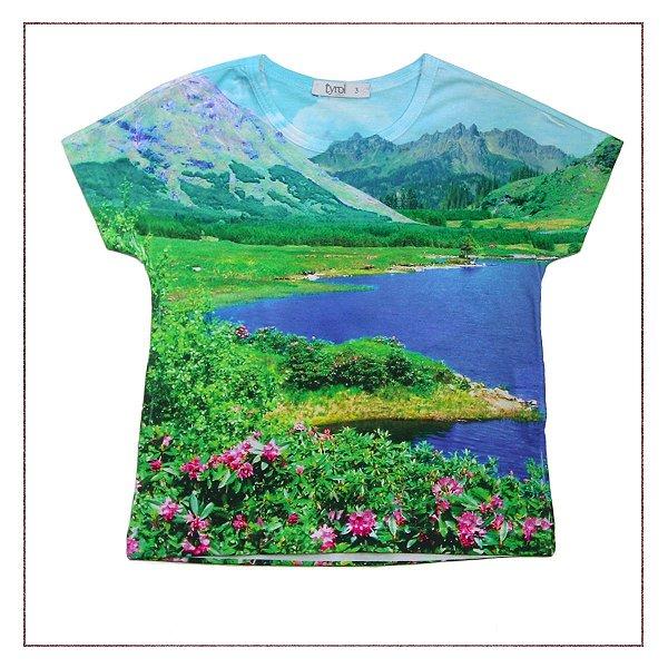 Camiseta Tyrol Estampada Paisagem - Enfim Lucrei  0554537a58633
