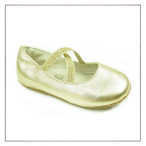 Sapatilha Infantil Dourada Toke