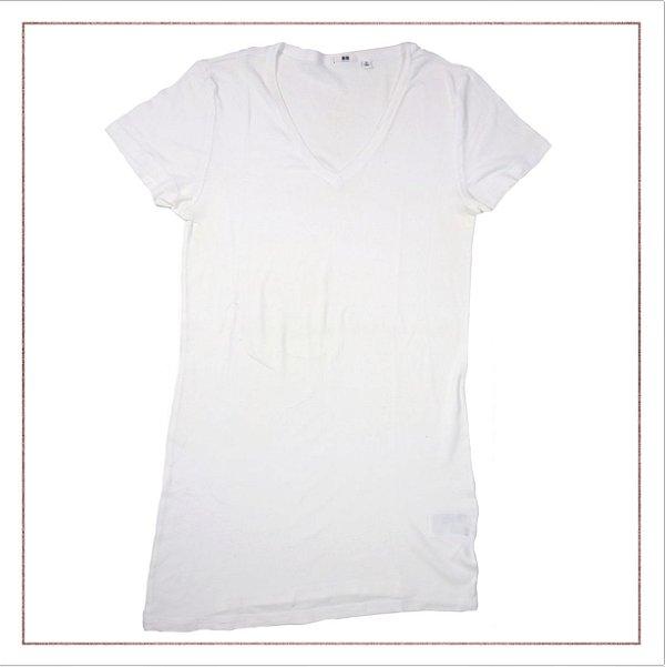 Camiseta UNIQLO Longa Branca