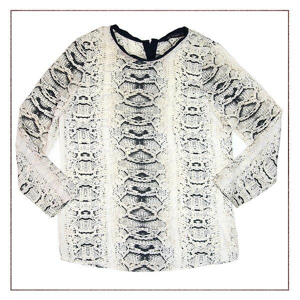 Camisa Zara Animal Print