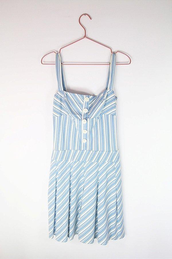 b3323ae49 Vestido Le Lis Blanc Azul Usado