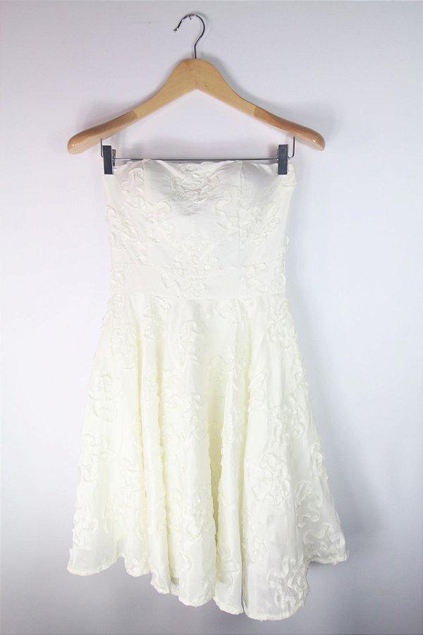 Vestido de Festa Kanaka Branco Flores