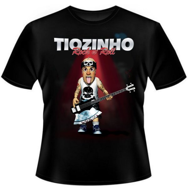 Camiseta Tiozinho Rock n' Roll