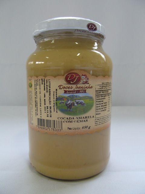 Doce Cocada Amarela com Gemas 650 grs