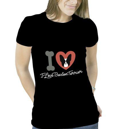 Camiseta Boston Terrier Original Feminina