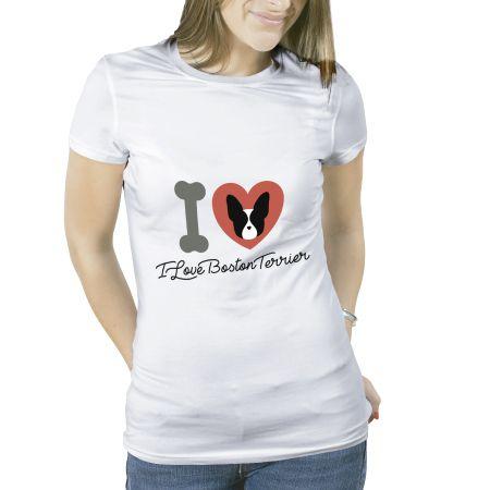 Camiseta Feminina Boston Terrier Original