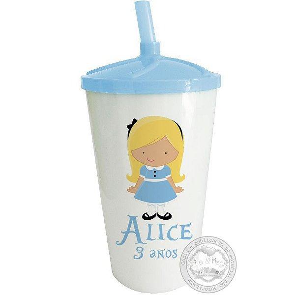 Copo Twister Personalizado Alice cute - 10 unidades