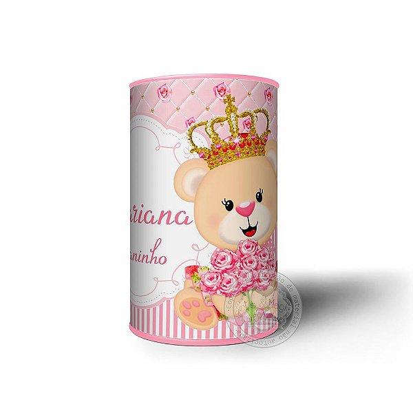 Cofrinho Personalizado Ursa Princesa - 10 unidades