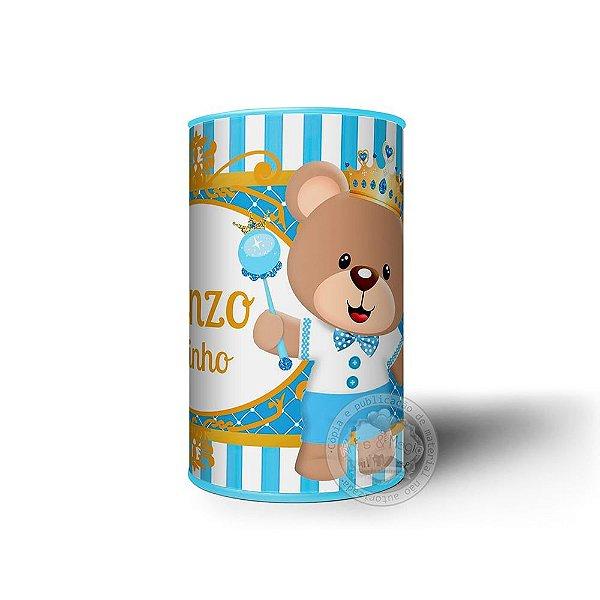 Cofrinho Personalizado Urso Príncipe - 10 unidades