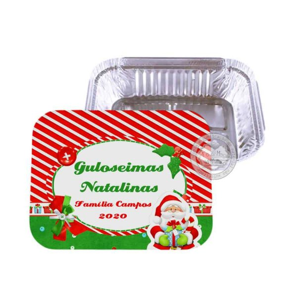 Marmitinha personalizada Natal - 10 unidades