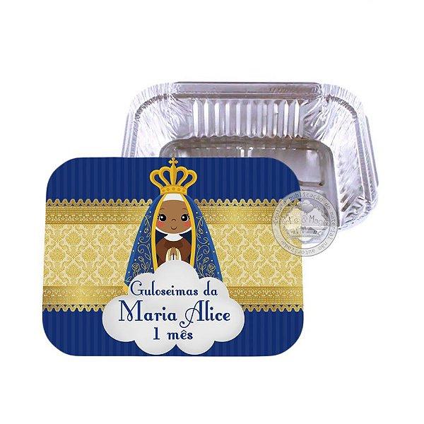 Marmitinha personalizada Nossa Senhora Aparecida - 10 unidades