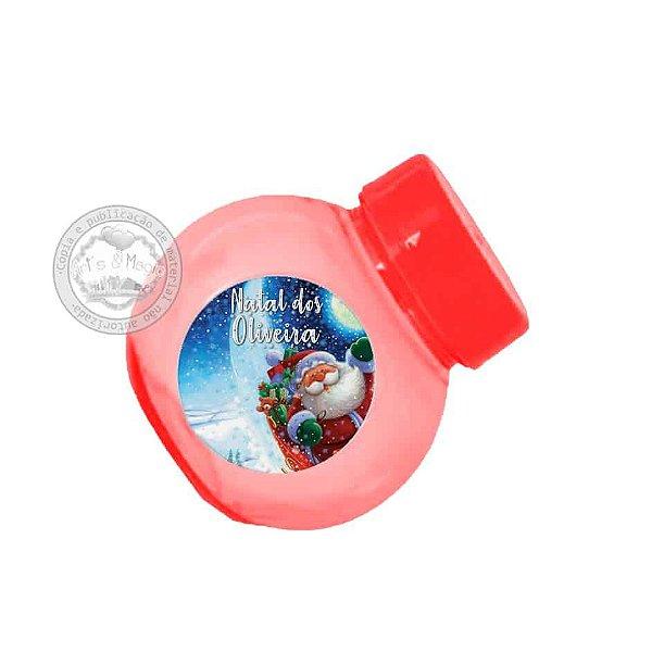 Mini Baleiro Personalizado Natal - 10 unidades