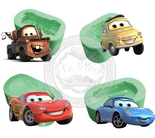 Kit Molde de Silicone Carros Disney