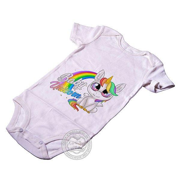 Body Infantil Baby Unicórnio