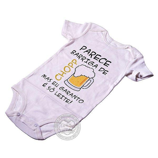 Body para bebê Barriga de Chopp