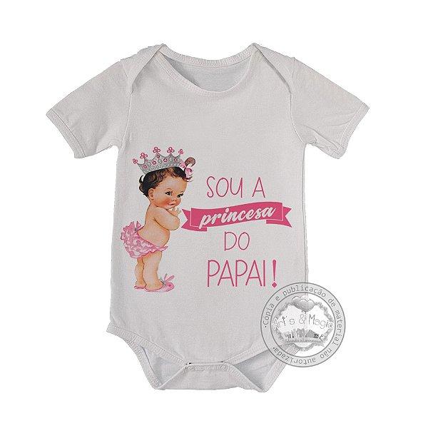 Body para bebê Princesa do Papai