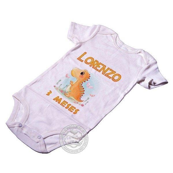 Body Personalizado Dino Baby