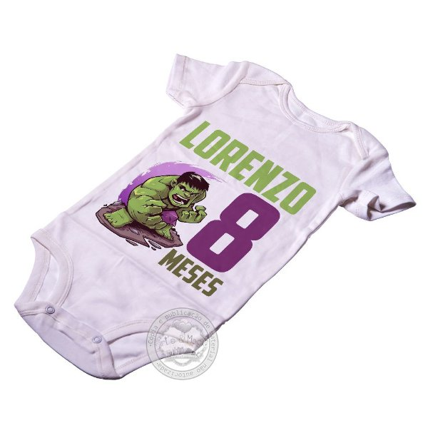 Body Personalizado Heróis Hulk