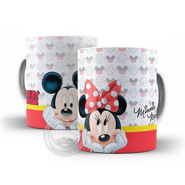 Caneca temática Mickey e Minnie