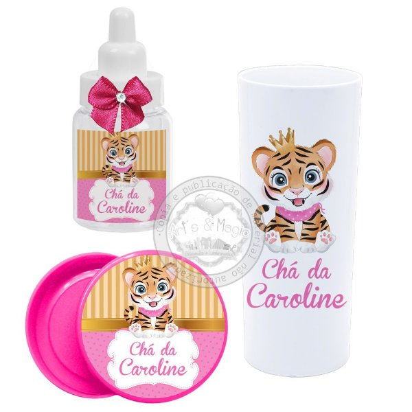 Kit Personalizado Chá de bebê Tigrinha