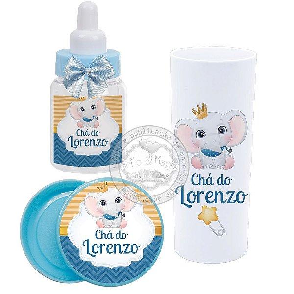 Kit Personalizado Chá de bebê Elefantinho
