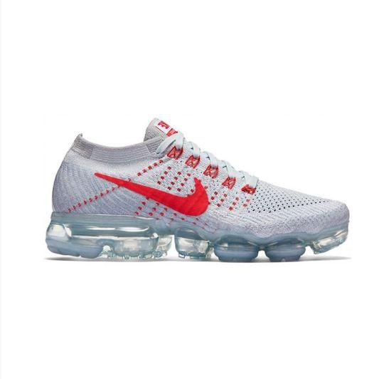 Tênis Nike VaporMax Flyknit Masculino branco e Vermelho  77c0ad4575905