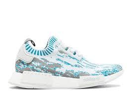 Tênis Adidas NMD R1 PK Datamosh  Branco Com  Azul