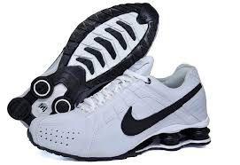 4632d7e884e Tênis Nike Shox Júnior - BRANCO COM PRETO