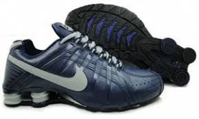 Tênis Nike Shox Junior - Azul Escuro