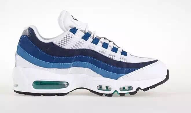 Tênis Nike air max 95 - Branco com Azul Escuro Masculino