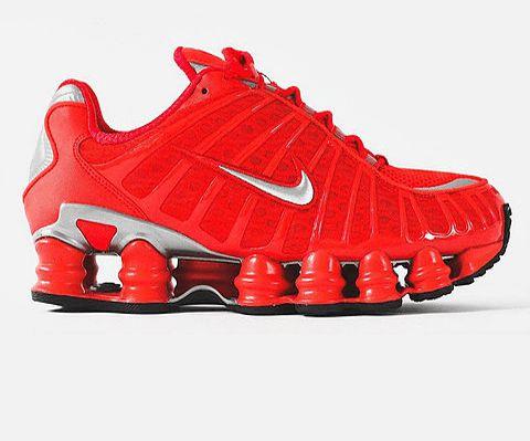 Tênis Nike Shox TL 12 Molas – Vermelho com Prata