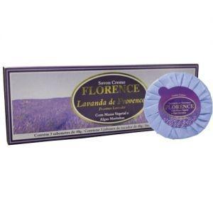 Kit 3 Sabonetes Florence Savon Creme Lavanda de Provence 80g