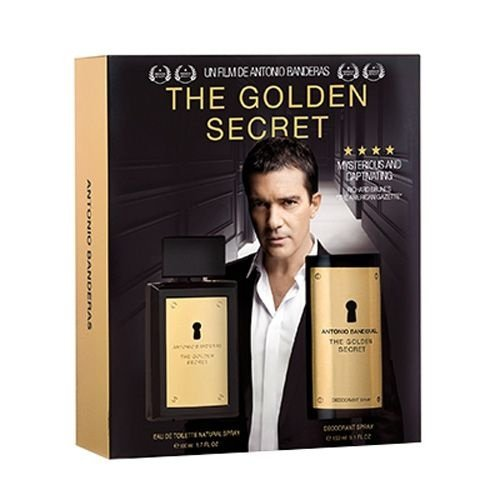 The Golden Secret Eau de Toilette Antonio Banderas - Kit Perfume 100ml + Desodorante 150ml