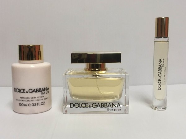 Kit The One Dolce & Gabbana Feminino EDP 75ml + Body Lotion 100ml + Miniatura 7,4ml