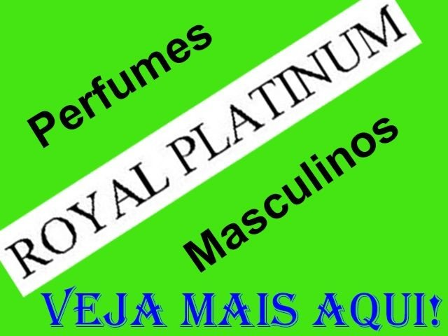 Perfumes Royal Platinum Masculino Eau de Toilette 100ml