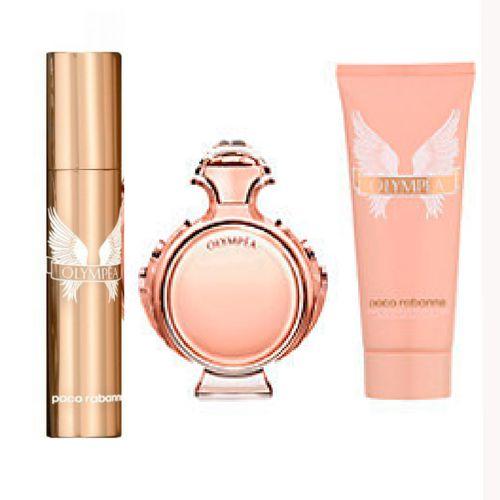 Kit Olympéa Eau de Parfum 80ml + Loção Sensuelle 100ml + Miniatura 10ml