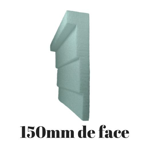 Moldura RodaTeto de isopor modelo 0315 - 150mm de face