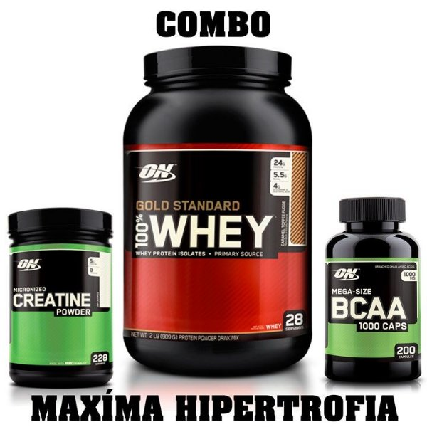 Kit Massa Muscular (3 Itens) - Optimum Nutrition
