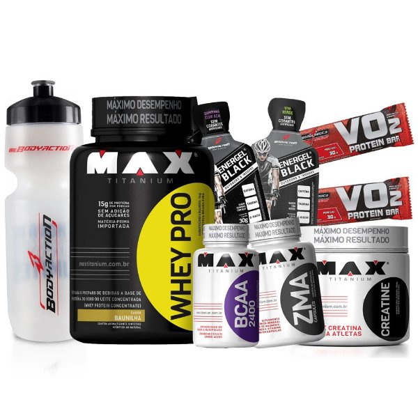 ded6bdf9d Kit Ganho de Massa Muscular Completo - Max Titanium - Loja de ...