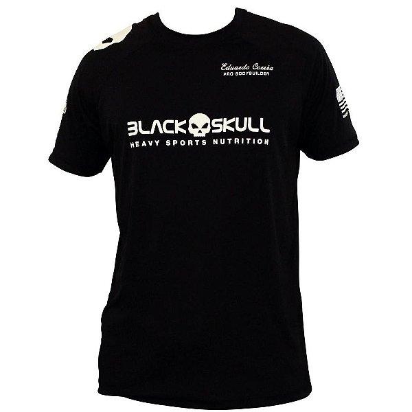 Camiseta Black Skull - Eduardo Correa - Preto - Loja de Suplementos ... 0fa592f2773