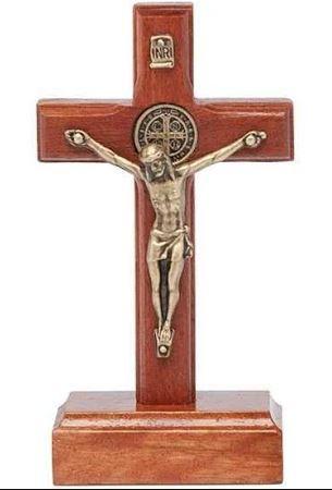 Crucifixo de madeira - 8 cm