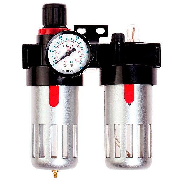Filtro de Ar Compressor Conexão 1/2 FA06 V8 Brasil