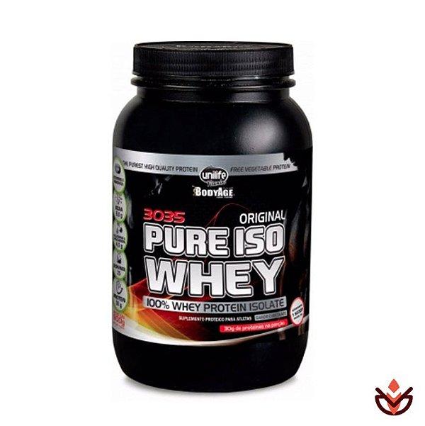 6f7e64ded Whey Protein Pure Iso Whey Sabor Morango - 100% Whey Protein Isolada 900g -  Unilife