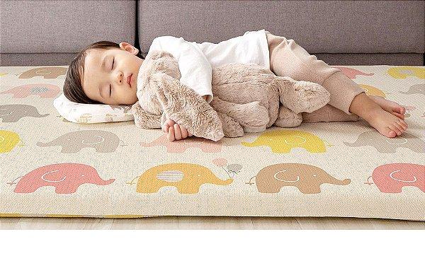 Tapete Dupla Face Infantil Parklon PVC Aerado Elefante 190cm x 130cm x 4cm