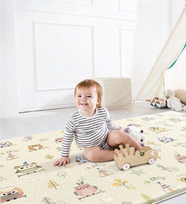 Tapete Infantil Parklon PVC Aerado Corujas 235cm x 140cm x 2,6cm