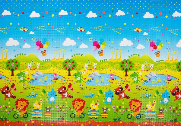 Tapete Infantil Proby PE Fun Animal 250cm x 180cm x 1,2cm