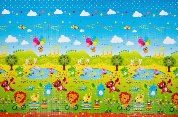 Tapete Infantil Proby PE Fun Animal 270cm x 180cm x 2,5cm
